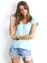 Miętowy t-shirt Vibes                                  zdj.                                  4