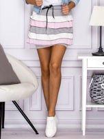 Mini spódnica z falbankami szara                                  zdj.                                  1