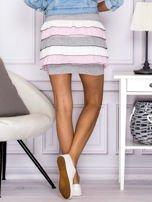 Mini spódnica z falbankami szara                                  zdj.                                  3