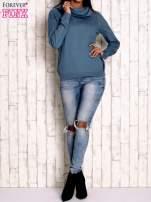Morski sweter z szerokim golfem                                  zdj.                                  2