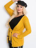Musztardowy sweter plus size Vibe                                  zdj.                                  3