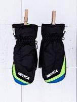 NEVICA Ocieplane wodoodporne dziecięce rękawiczki narciarskie czarne                                  zdj.                                  1