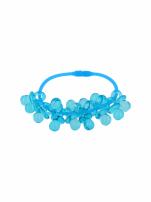 Niebieska Bransoletka z zawieszkami w kształcie smoczków - baby shower                                  zdj.                                  2