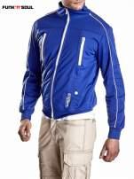 Niebieska bluza męska z kieszeniami na suwak Funk n Soul