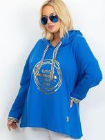 Niebieska bluza plus size Camille                                  zdj.                                  5