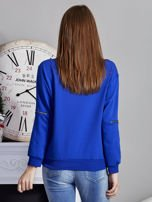 Niebieska bluza z napisem i suwakami                                  zdj.                                  2
