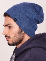 Niebieska czapka męska beanie                                   zdj.                                  2