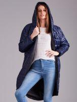 Niebieska długa kurtka przejściowa                                  zdj.                                  5