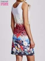 Niebieska dopasowana sukienka z motywem pantery                                                                          zdj.                                                                         4