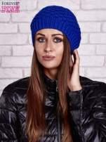 Niebieska dziergana czapka                                   zdj.                                  1