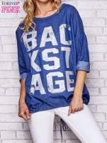 Niebieska jeansowa tunika ze sznureczkiem                                  zdj.                                  1
