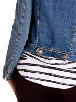 Niebieska klasyczna kurtka jeansowa damska                                  zdj.                                  8