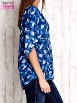 Niebieska koszula w piórka                                  zdj.                                  3