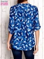 Niebieska koszula w piórka                                  zdj.                                  2