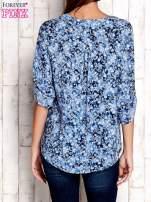 Niebieska koszula z kwiatowym nadrukiem                                                                          zdj.                                                                         4