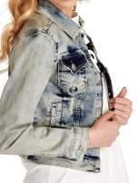 Niebieska kurtka jeansowa damska z przetarciami                                  zdj.                                  6