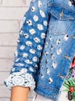 Niebieska kurtka jeansowa z koronką                                  zdj.                                  7