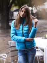 Niebieska kurtka z futrzanym kołnierzem                                  zdj.                                  1