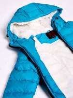 Niebieska kurtka z futrzanym kołnierzem                                  zdj.                                  10