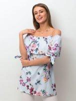 Niebieska kwiatowa bluzka hiszpanka                                  zdj.                                  1