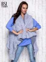 Niebieska melanżowa bluzka z dekoltem na plecach                                  zdj.                                  8