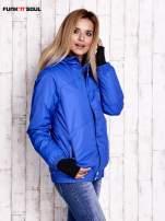 Niebieska ocieplana kurtka narciarska z kapturem FUNK N SOUL                                  zdj.                                  3