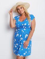 Niebieska sukienka plus size Arkansas                                  zdj.                                  1
