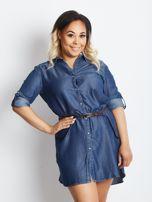Niebieska sukienka plus size Confidence                                  zdj.                                  1