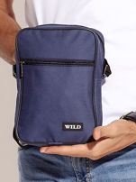 Niebieska torba męska materiałowa                                  zdj.                                  1