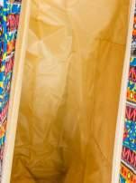 Niebieska torba plażowa w azteckie wzory                                  zdj.                                  10