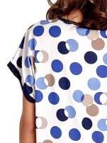 Niebieska tunika w kolorowe grochy                                  zdj.                                  6