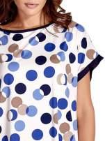 Niebieska tunika w kolorowe grochy                                  zdj.                                  5