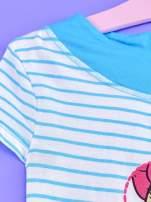 Niebieska tunika w paski dla dziewczynki MINNIE MOUSE