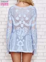 Niebieski ażurowy sweterek mgiełka                                  zdj.                                  4