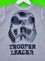 Niebieski dekatyzowany t-shirt chłopięcy STAR WARS                                  zdj.                                  4