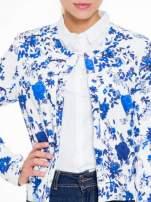 Niebieski kwiatowy żakiet chanelka zapinany na haczyk                                  zdj.                                  5