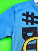 Niebieski t-shirt chłopięcy  motywem ADVENTURE TIME                                   zdj.                                  3