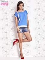 Niebieski t-shirt z kokardą                                  zdj.                                  2