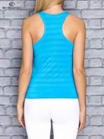 Biały top sportowy V-neck w paseczki                                                                          zdj.                                                                         4