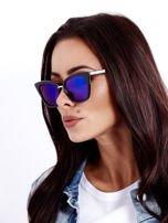 Niebieskie Lustrzane Damskie Okulary przeciwsłoneczne CAT EYE                                  zdj.                                  1