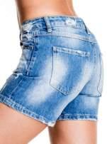 Niebieskie jeansowe szorty z dżetami                                                                          zdj.                                                                         6