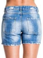 Niebieskie jeansowe szorty z dżetami                                  zdj.                                  2