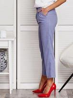 Niebieskie spodnie 7/8 w drobny deseń                                  zdj.                                  3