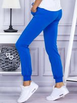 Niebieskie spodnie dresowe z kieszonką z przodu                                  zdj.                                  3