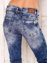 Niebieskie spodnie jeansowe marble denim z gwiazdką                                                                          zdj.                                                                         5