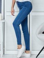 Niebieskie spodnie jeansowe skinny high waist                                  zdj.                                  3