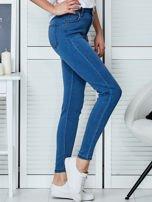Niebieskie spodnie jeansowe skinny high waist                                  zdj.                                  5