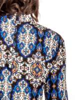Niebieskie sukienka etno z rozszerzanymi rękawami                                  zdj.                                  5