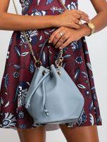 Niebiesko-szara torebka z łańcuszkiem                                  zdj.                                  1