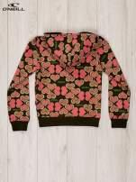 O'NEILL Różowa bluza dla dziewczynki w serduszka                                  zdj.                                  2